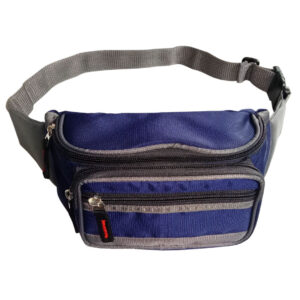 Blue And Black Waist Pouch