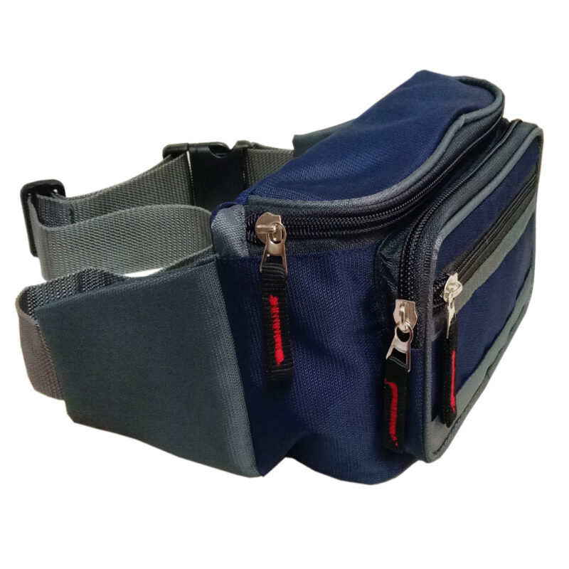 Blue And Black Waist Pouch - Image View 1