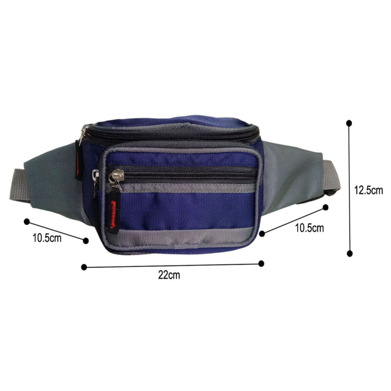 Blue And Black Waist Pouch - Image View 3