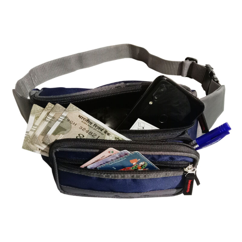 Blue And Black Waist Pouch - Image View 5