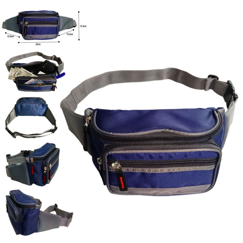 Blue And Black Waist Pouch - Image View 6