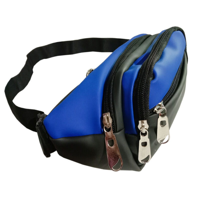 Black and Blue Waist Pouch - Image View 1