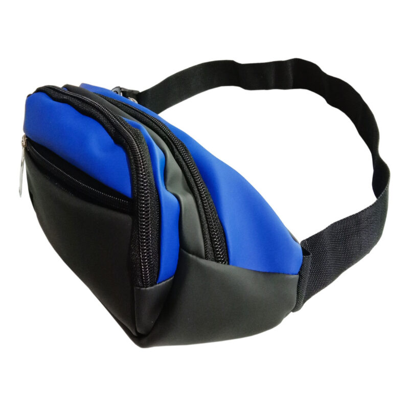 Black and Blue Waist Pouch - Image View 2