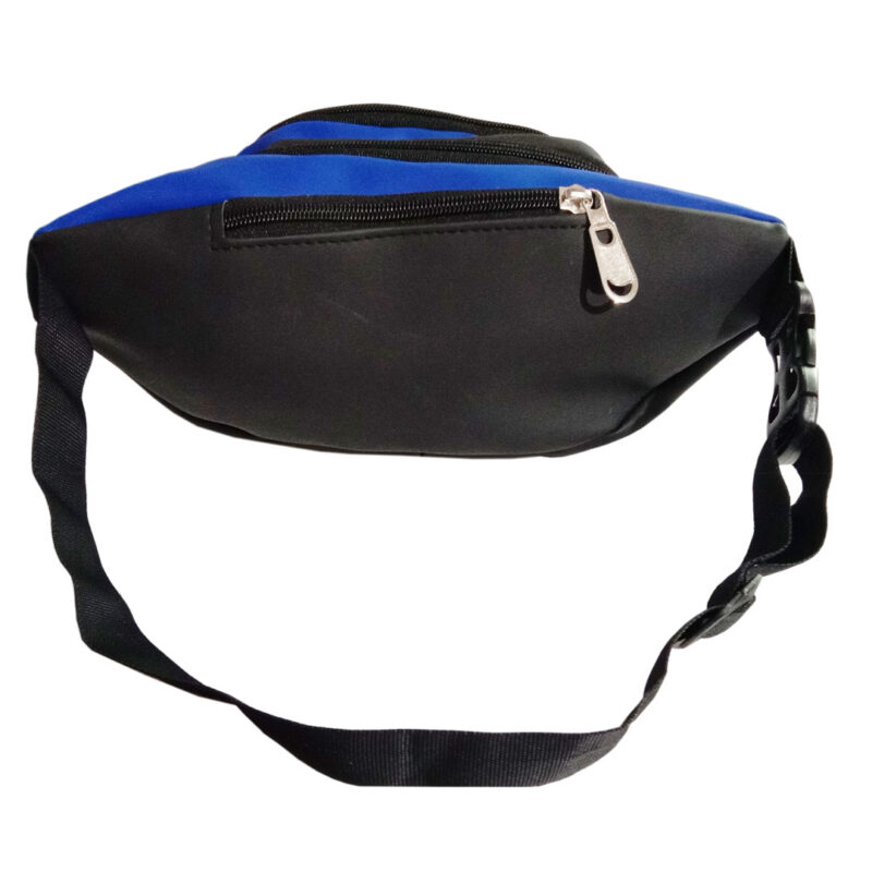 Black and Blue Waist Pouch - Image View 4