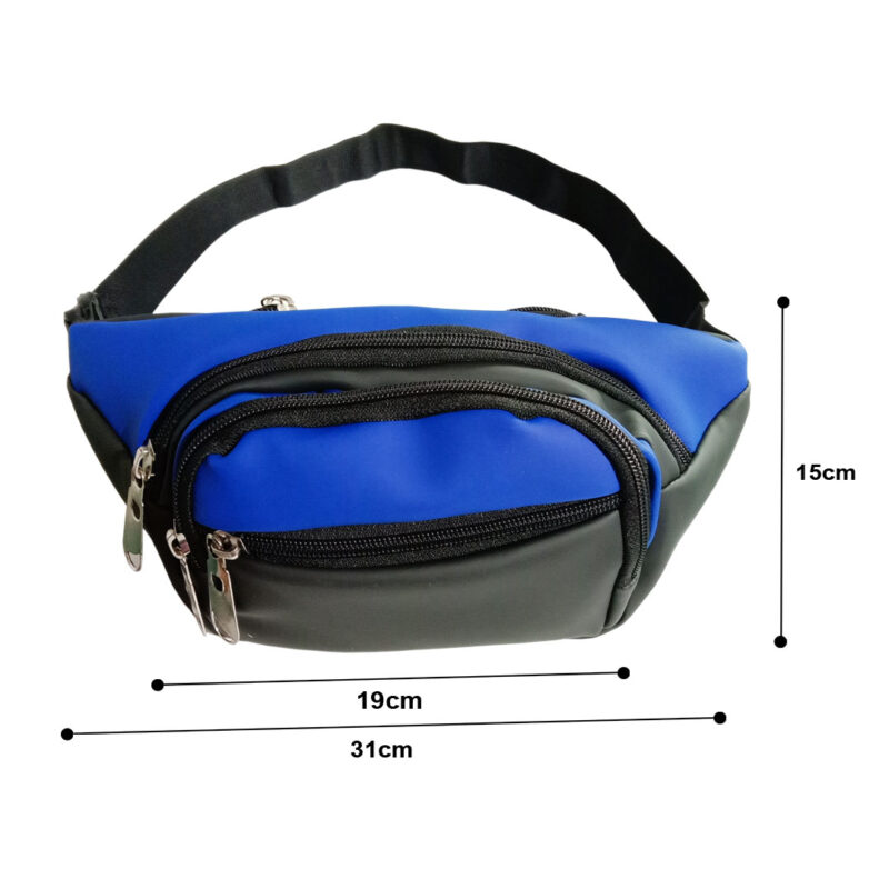 Black and Blue Waist Pouch - Image View 5