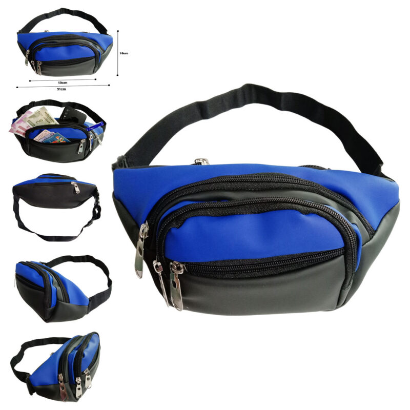 Black and Blue Waist Pouch - Image View 6