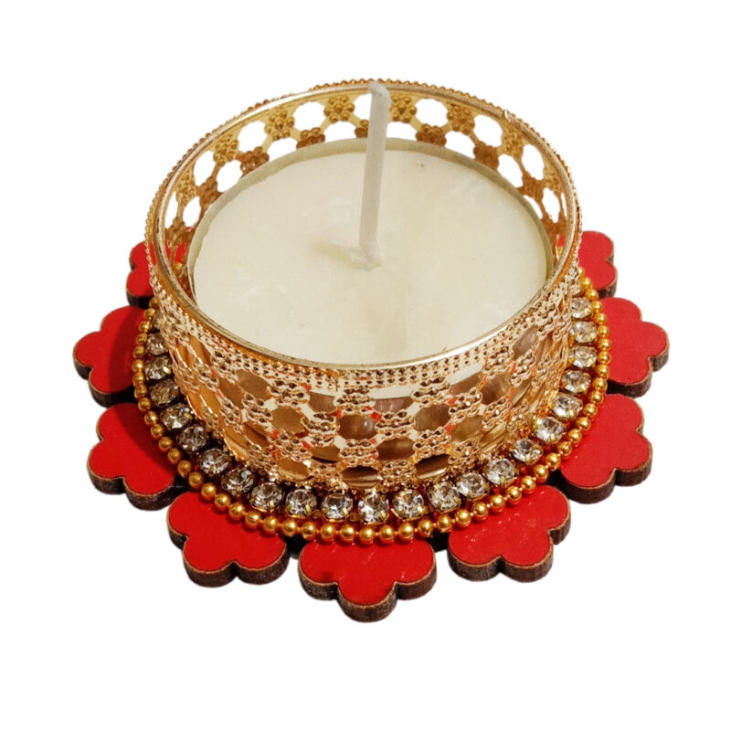 Candle Tealight Dstand Flower - Image View 1