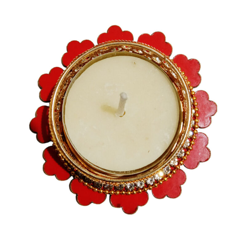 Candle Tealight Dstand Flower - Image View 2