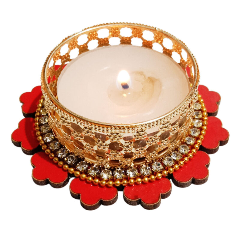 Candle Tealight Dstand Flower - Image View 3