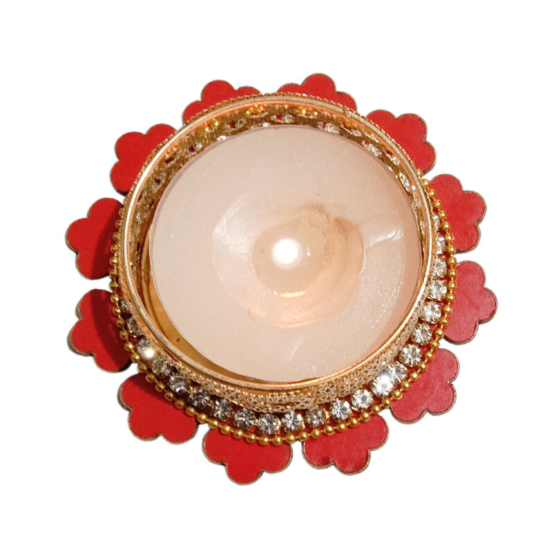 Candle Tealight Dstand Flower - Image View 4