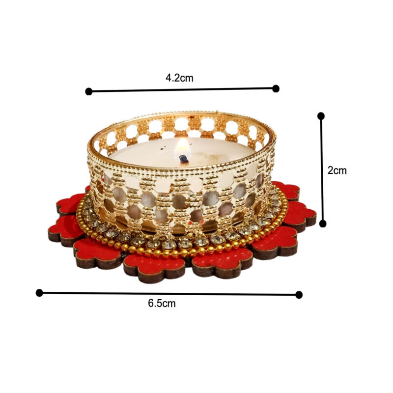 Candle Tealight Dstand Flower - Image View 5
