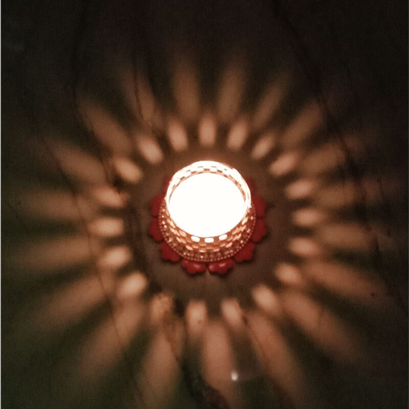 Candle Tealight Dstand Flower - Image View 6