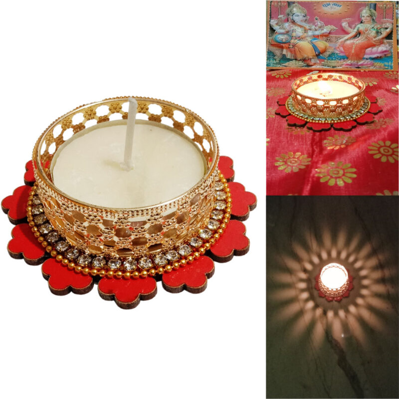 Candle Tealight Dstand Flower - Image View 7