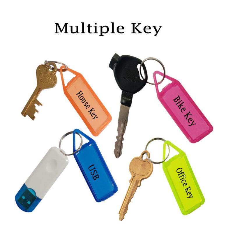 Colourful Reusable Economical Key Tags Image view 3