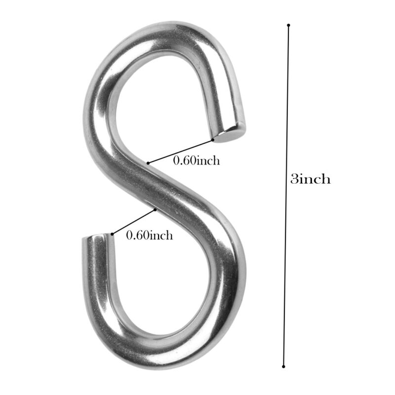 Multipurpose Stainless Steel S Hook 3 Inch - 24 PCs-Image View 2