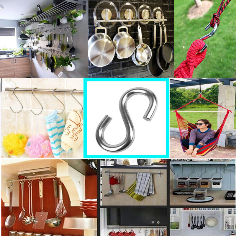 Multipurpose Stainless Steel S Hook 3 Inch - 24 PCs-Image View 5