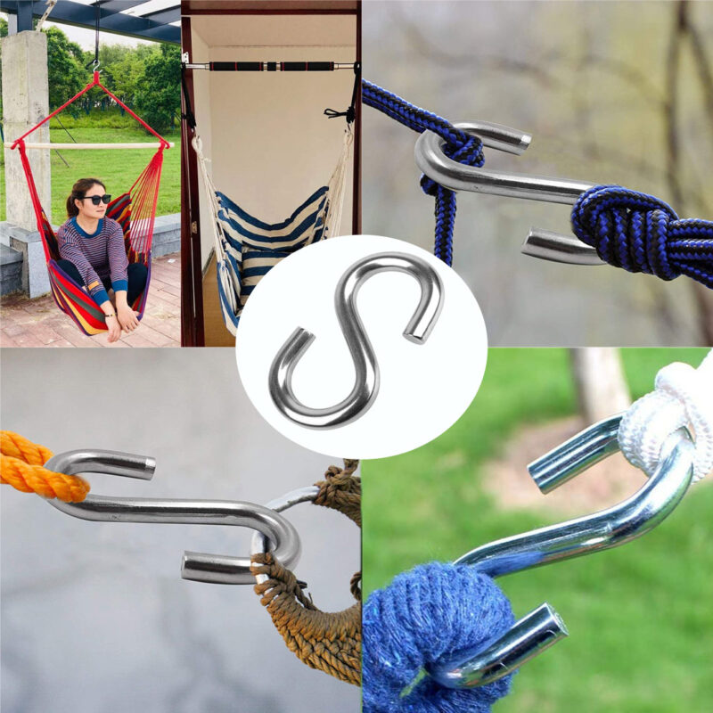 Multipurpose Stainless Steel S Hook 3 Inch - 24 PCs-Image View 6