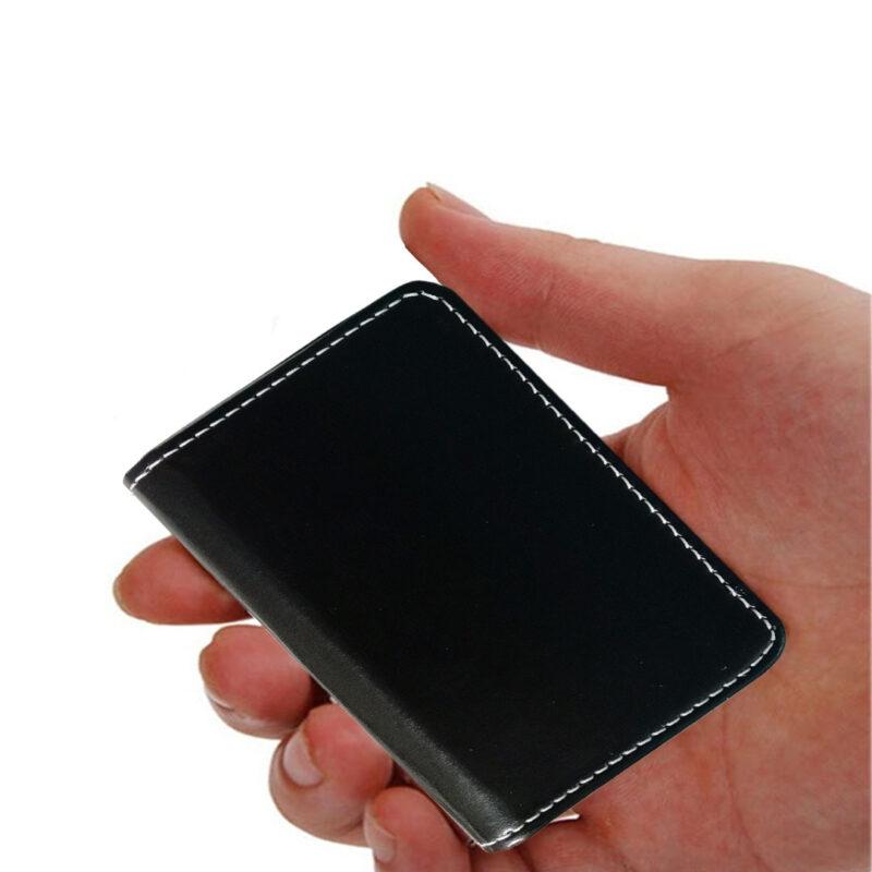 LEATHER BLACK3 LINE CARD BLACK 5 - SMILE BAZAR