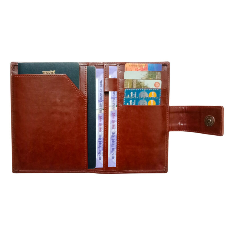 Leather Passport Cover - Image View 1