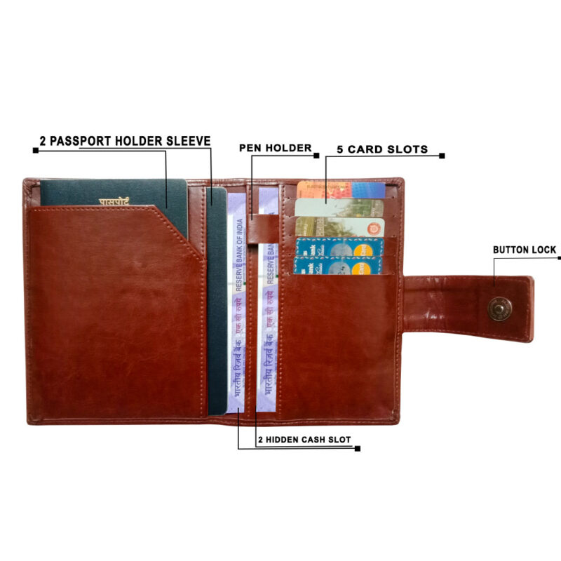 Leather Passport Cover - Image View 8