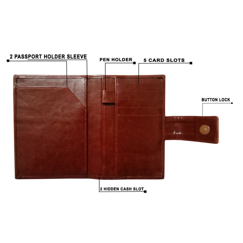 Leather Passport Cover - Image View 3