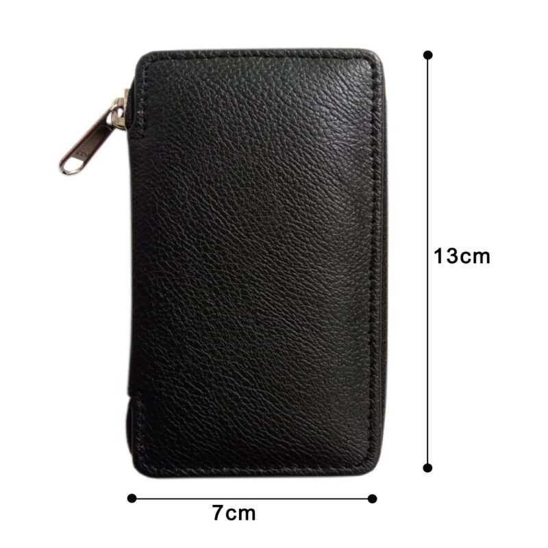 Black Genuine Leather Pocket Key Case - Image view 3