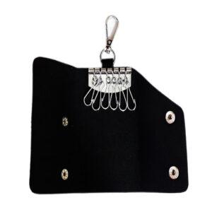 Black Leather Pocket Key Holder - Image View 1