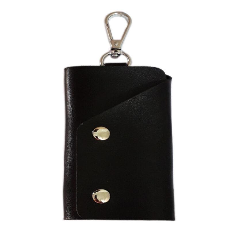 Black Leather Pocket Key Holder - Image View 2