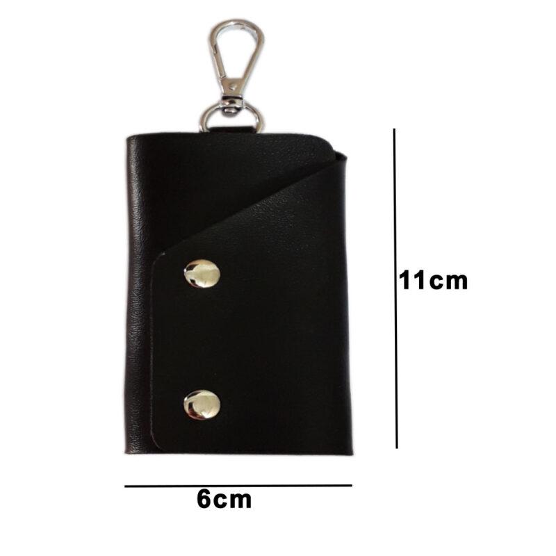 Black Leather Pocket Key Holder - Image View 5