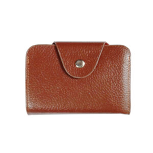 LEATHER BROWN VISITING CARD HOLDER - IMAGE VIEW 1
