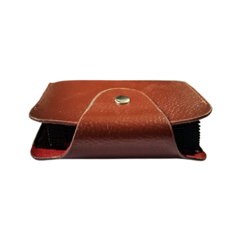 LEATHER BROWN VISITING CARD HOLDER - IMAGE VIEW 2