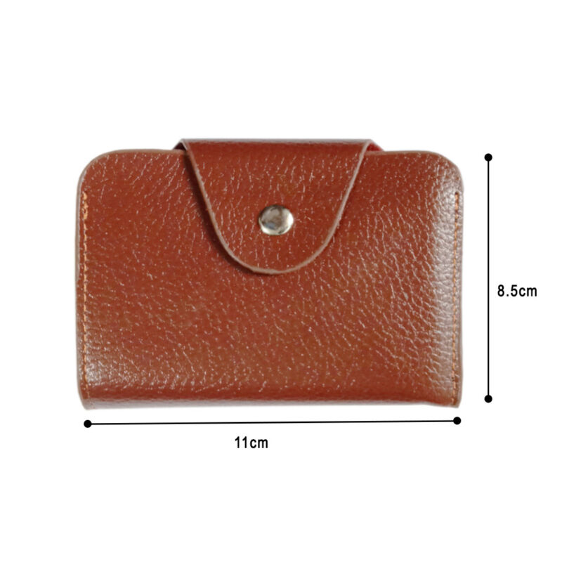 LEATHER BROWN VISITING CARD HOLDER - IMAGE VIEW 3