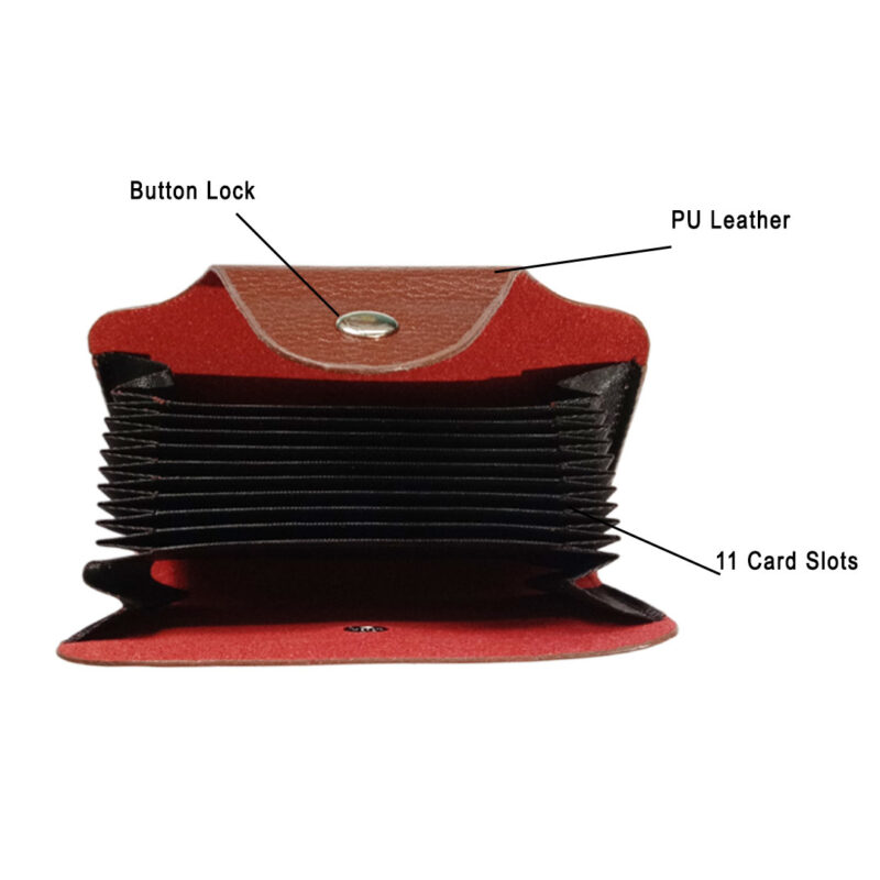 LEATHER BROWN VISITING CARD HOLDER - IMAGE VIEW 4