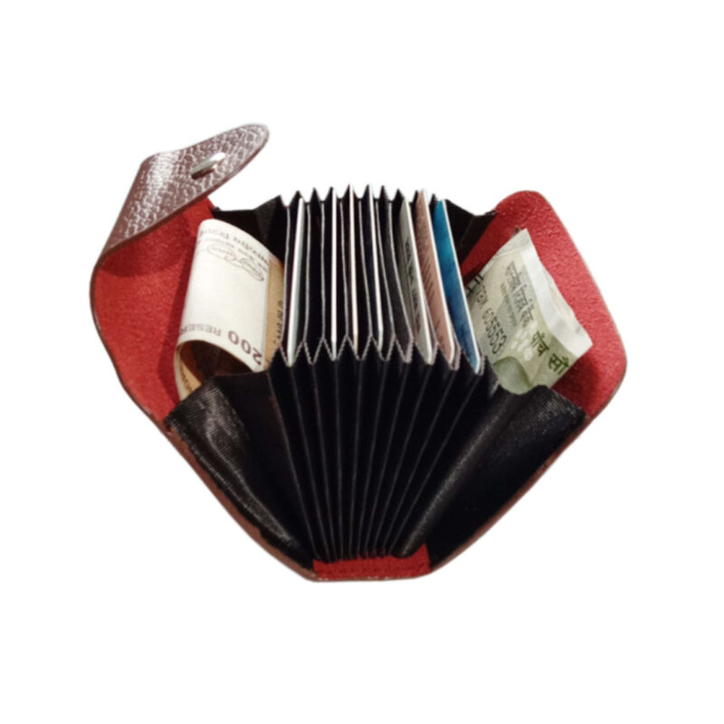 LEATHER BROWN VISITING CARD HOLDER - IMAGE VIEW 6