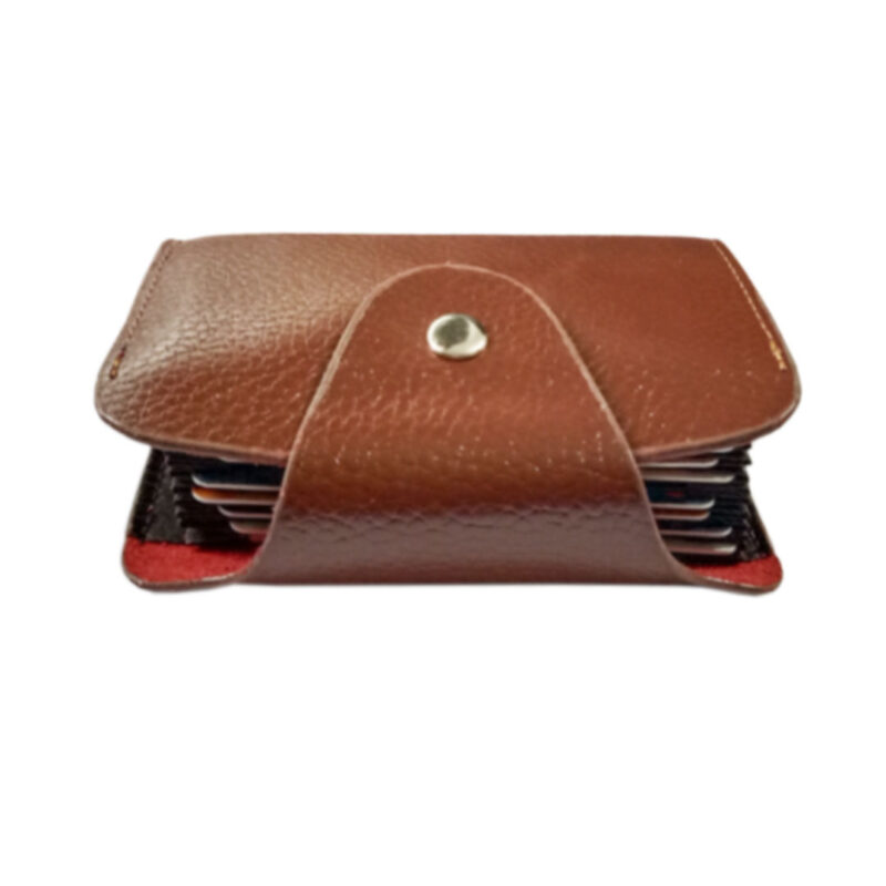 LEATHER BROWN VISITING CARD HOLDER -IMAGE VIEW 7