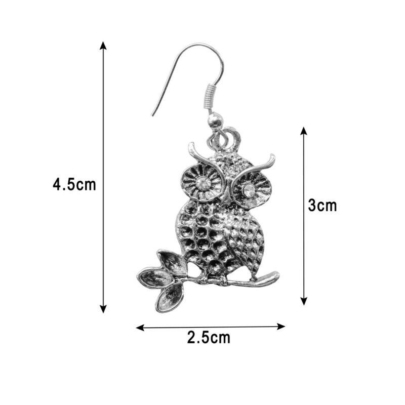 OWL EARRINGS -IMAGE VIEW 3