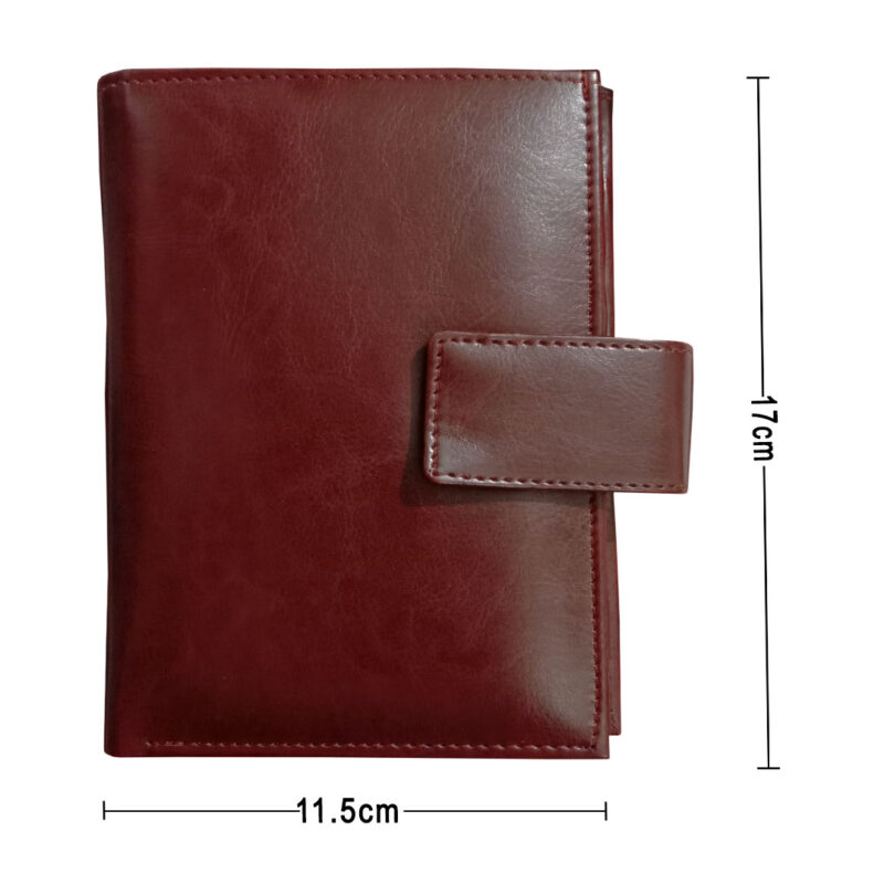 Brown Genuine Leather Passport Cover-Image View 3