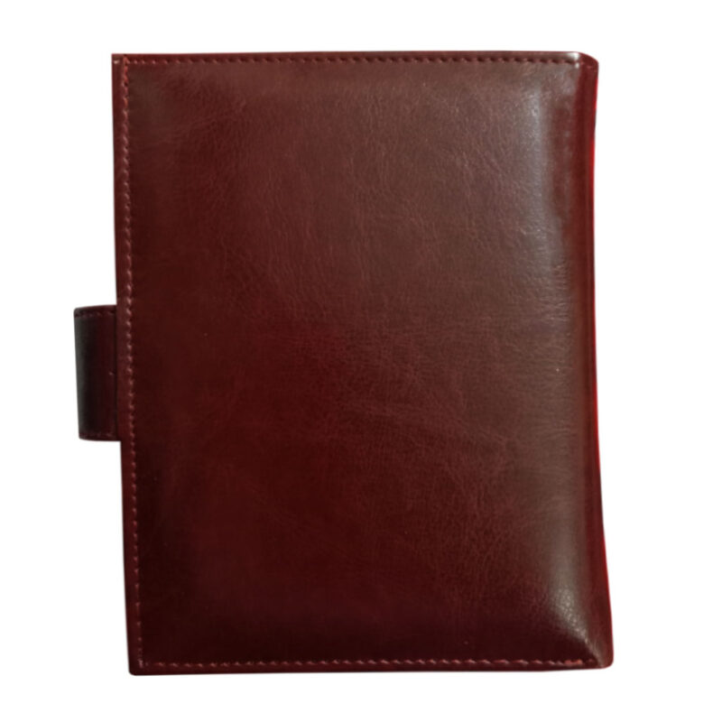 Brown Genuine Leather Passport Cover-Image View 4