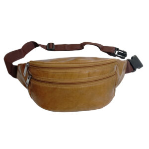 Elegant Genuine Leather Waist Pouch - Image view 1