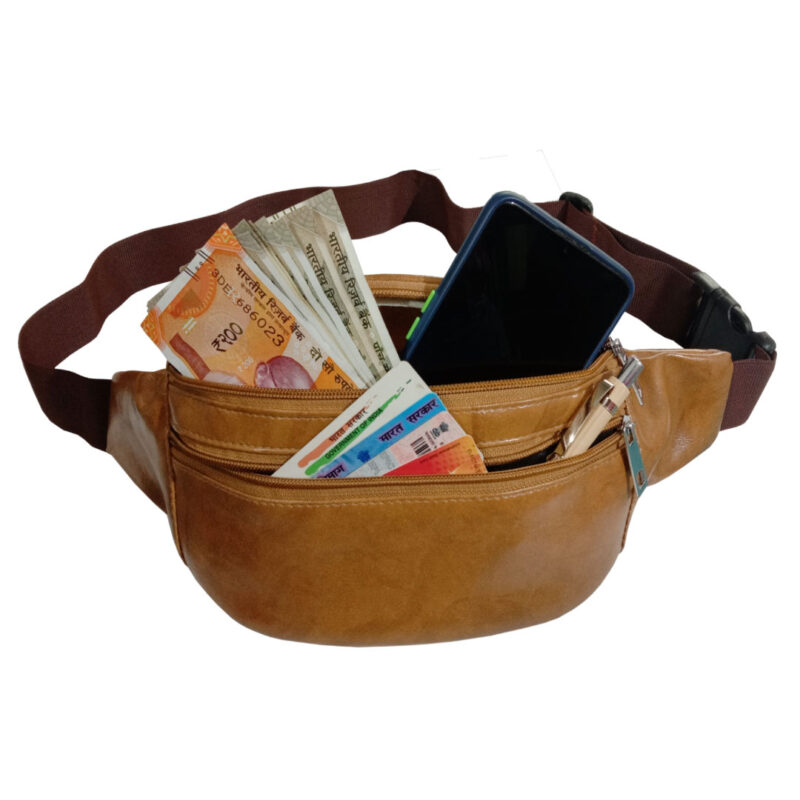 Elegant Genuine Leather Waist Pouch - Image view 5