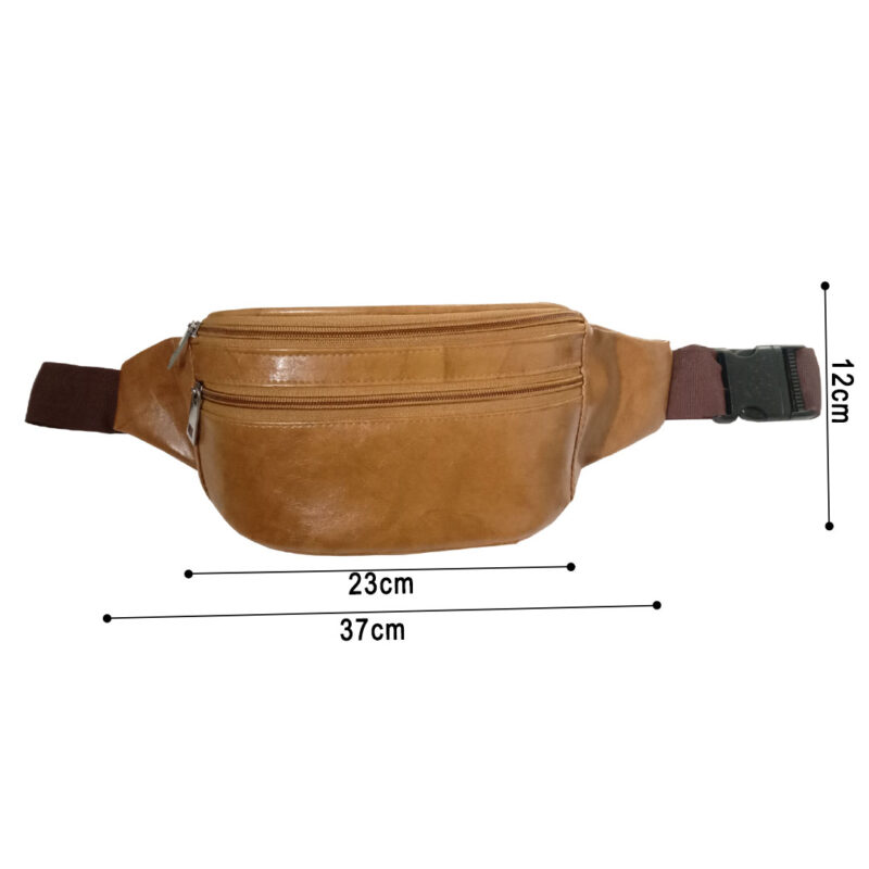 Elegant Genuine Leather Waist Pouch - Image view 6