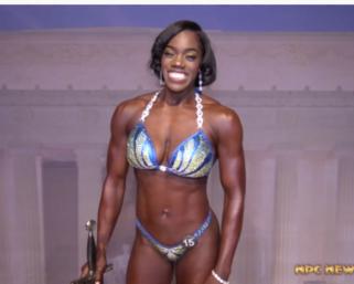 2019 NPC Natural Maryland Women's Figure Overall Winner Shanice Abrams Video