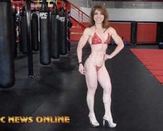 IFBB Professional League Bikini Pro Mimi StricklerPodsing Practice at the UFC Gym Reno . She is making her Pro debut at the 2020 IFBB Pro League Northern California Contest Photos: Filmed by J.M. Manion