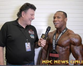 2020 NPC Junior USA Championships Men's Physique  Overall Winner Rhyan Clark interviewed by J.M. Manion