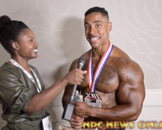 2020 IFBB PRO LEAGUE TAMPA PRO CLASSIC PHYSIQUE WINNER DEONTRAI CAMPBELL AFTER SHOW INTERVIEW