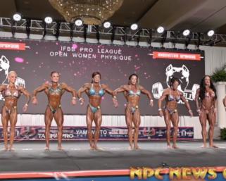2020 IFBB Pro League Tampa Pro Women's Physique Prejudging Video