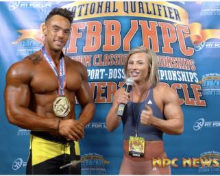 2020 IFBB Pro League Optimum Classic Interviews: Men's Physique Winner Rodrigue Chesnier