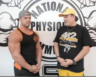 NPC Bodybuilder Eric Wood Interviewed by J.M. Manion At The NPC Photo Gym