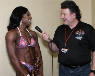 2020 NPC Universe Women's Figure Overall Shakia Mackey After show interview with J.M. Manion