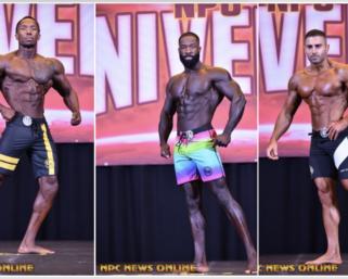 2020 NPC Universe Men's Physique IFBB Pro League Pro Card Winners